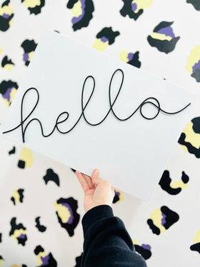 'hello' in December font
