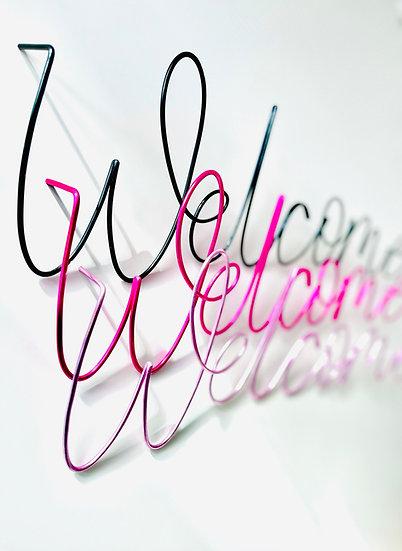 Welcome (September font)