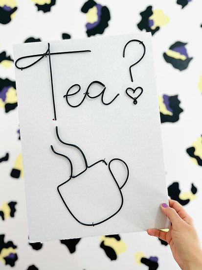 Tea? (October font) and Cup/Mug Set