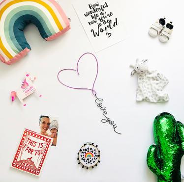 'love you' heart balloon