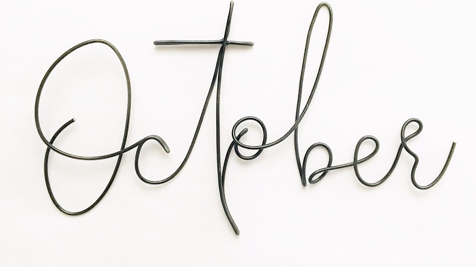 October font - XL size (tallest letters 15cm)