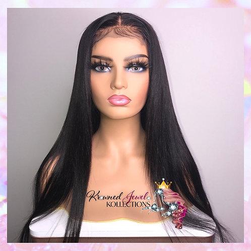 Customized Straight Hair Closure Wig