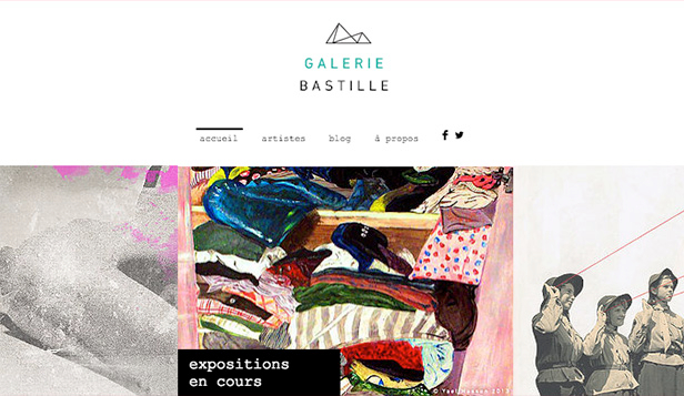 Arts visuels website templates – Galerie d'Art Moderne