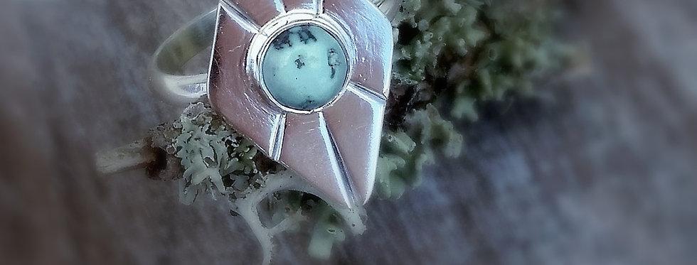 Broken Arrow Turquoise Ring