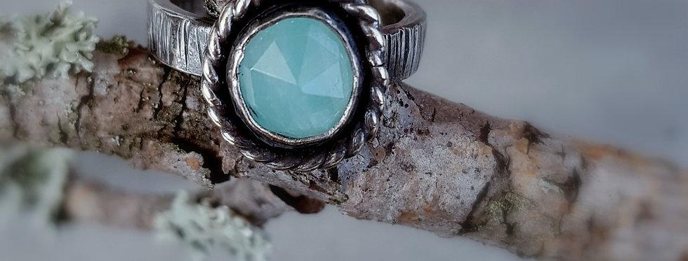 Amazonite Rustic Ring