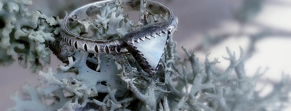 Moonstone Pyramid Ring