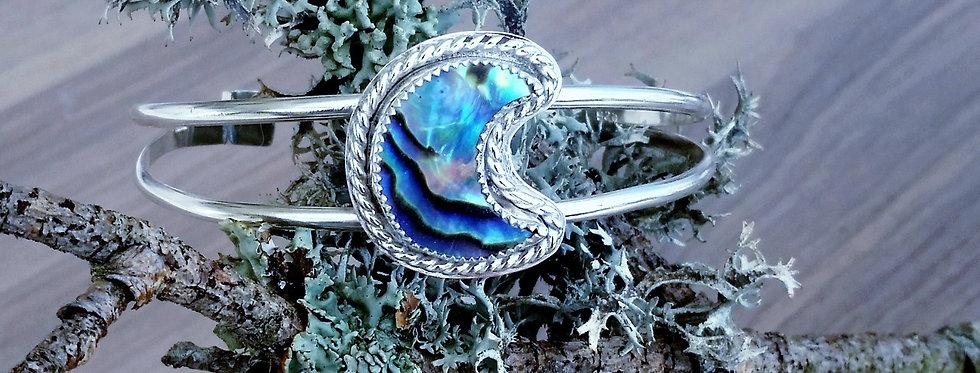 Abalone Crescent Moon Cuff