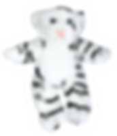 snowflake white tiger stuffed animal