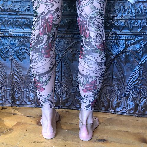 Sandylew Mesh Tattoo Leggings