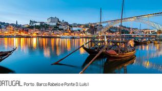 ref.ª 252 | Porto, Barco Rabelo e Ponte D. Luís I