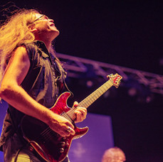 Howe G playing with Dio Rising at Cyprus Rocks Festival 2018
