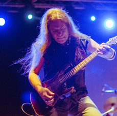Howie G - Lead guitarist with Dio Rising playing Cyprus Rocks Festival on his Schecter guitar