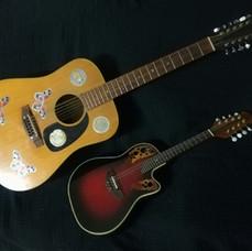 Vintage 12 string acoustic and Ovation mandolin
