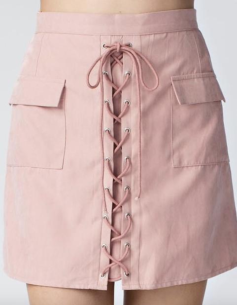 Honey Punch Dusty Rose Skirt