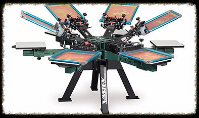 6 color/6 station screen printing press