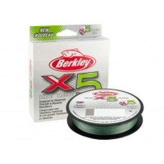 Berkley X5 Braid 0,12mm/150m 12kg Low-Vis Green