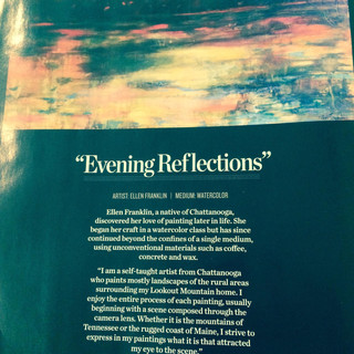 Evening Reflections was featured in Chatter Magazine.