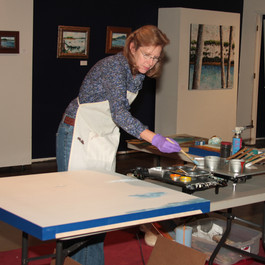 Encaustic Demo at the Creative Arts Guild in Dalton, GA