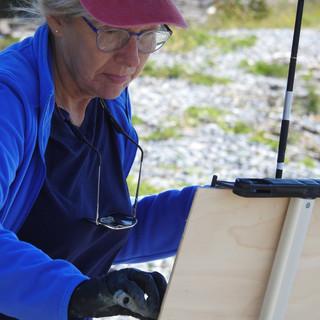 Painting on Monhegan Island,ME