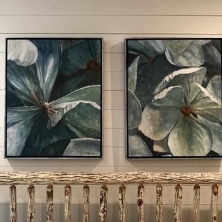"Installation of ""Hydrangea Blossoms"""
