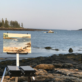Painting in Port Clyde, ME
