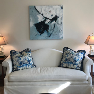 My artwork in a beautiful Chattanooga home
