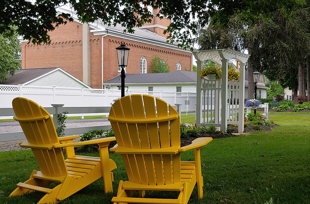 BrickInn Outdoor Chairs, Green Grass, Landscaping