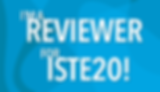 ISTE 2020 reviewer logo