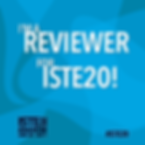 ISTE 2020 reviewer badge