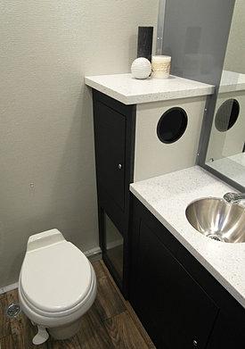 we specialize in renting portable restroom trailers - Bathroom Rentals