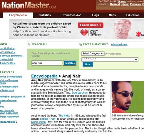 About Anuj Nair in Nation Master Encyclopedia