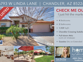 Just Listed. Beautiful Single level home in Chandler Crossing