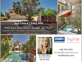 Just Listed! South Tempe, Large Cul-de-Sac Lot
