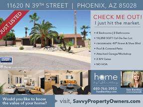 Listed! Beautiful Phoenix home on large Cul-De-Sac lot