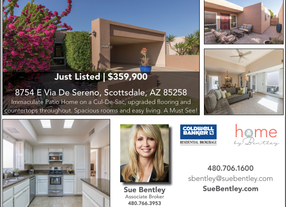 Check Me Out! Just Listed in the Sands Scottsdale Townhomes