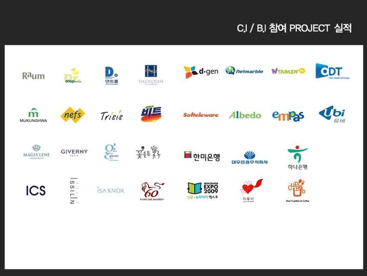 CI BI 참여 프로젝트 실적