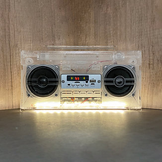 10:MUSIC Boombox Speakers (CLEAR ver.)