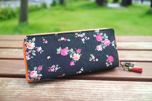 Denim Roses ~ Wallet-Tote