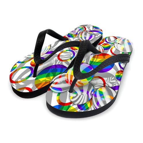 彩虹西瓜波 ~ 拖鞋
