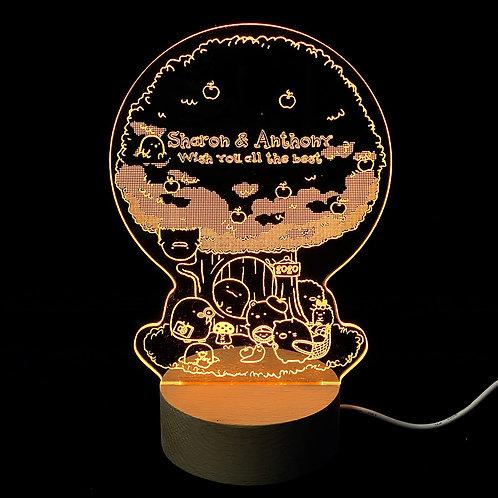 Custom Made LED Night Lamp