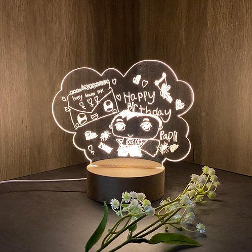 Custom Made Drawing LED Night Lamp