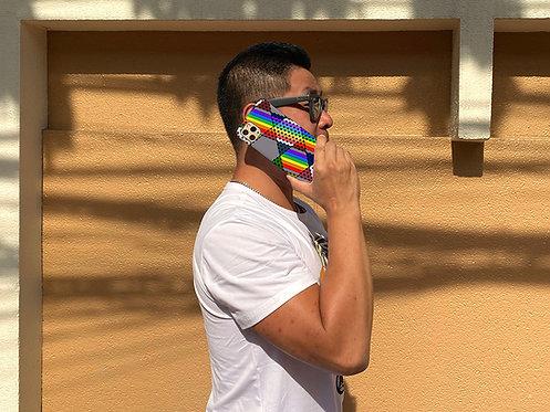 Rainbow Star Checkers ~ iPhone case