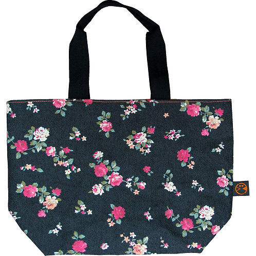 Denim Roses (DN-RS) ~ S size Tote