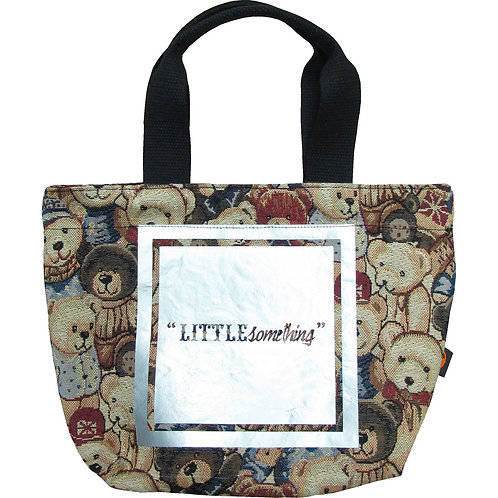 """Bear with Silver """"LITTLEsomething"""" ~ S size Tote"""