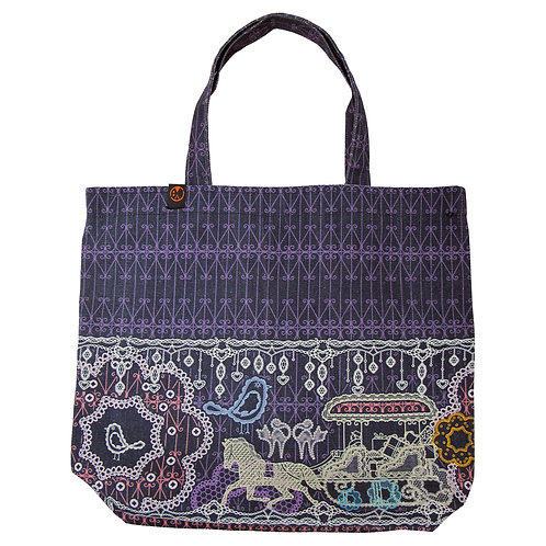 Lace Flower Street ~ Tote Bag