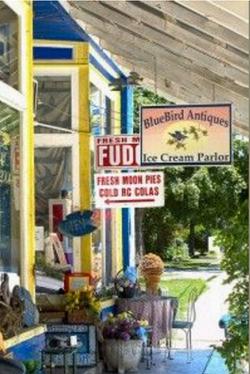 Old-fashioned ice cream shop
