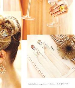 Baltimore Bride Magazine Illustratio
