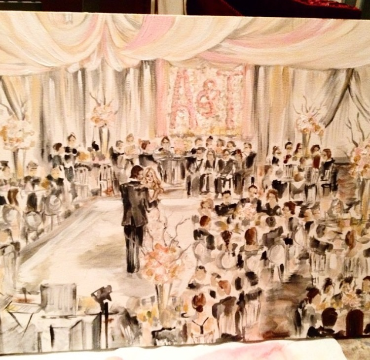 Live Wedding Painting || Mix Media