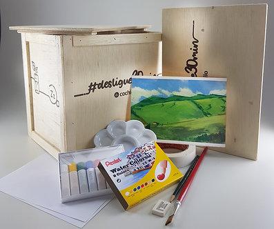 #Pintando  |  Caixa de Experiência