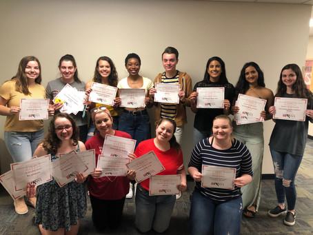 Spring Semester Awards - Final Meeting Recap